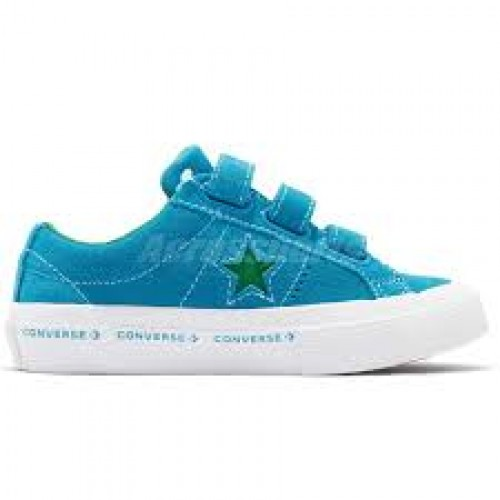 Converse One Star 3V OX Strap 660037C  Blue- Green- White