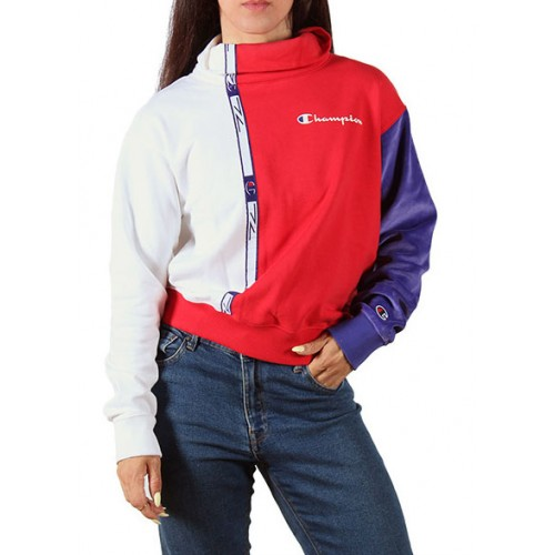CHAMPION HIGH NECK RED-WHITE 113340-RS015