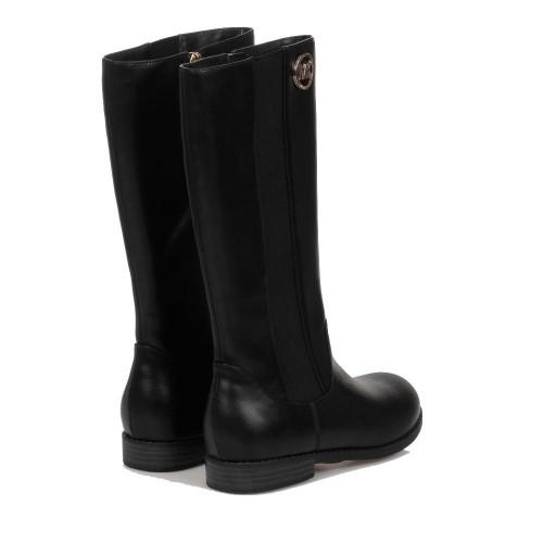 Michael Kors Black Emma Faux Leather Boots - MK100114C - Black
