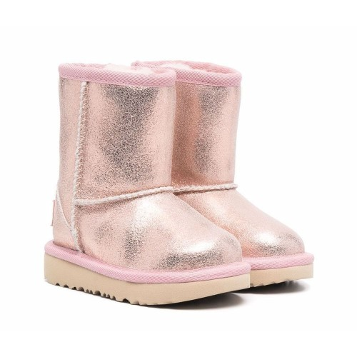 UGG Kids glitter shearling-lined boots 1123663T Pink