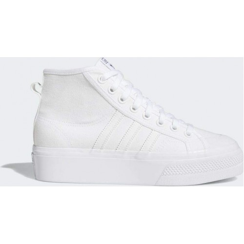 Adidas Nizza Platform Mid - White FY2782