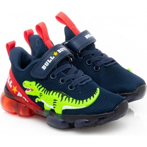 Sneaker Bull Boys Bull Boys Dinosauro Lights BB2130-Blue Αγόρι