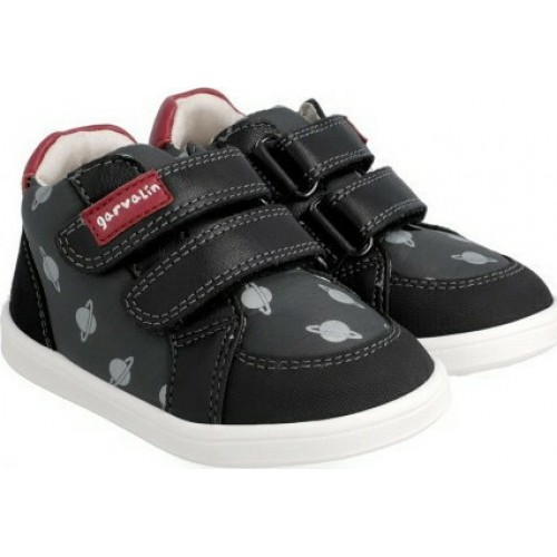 Garvalin Παιδικό Sneaker High 211632 με Σκρατς για Αγόρι Μαύρο