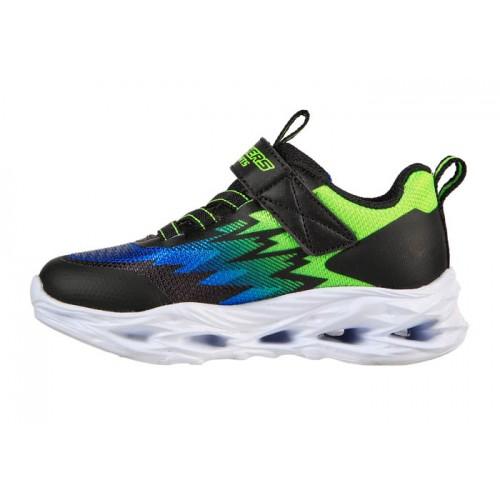 Skechers Παιδικό Sneaker με Φωτάκια για Αγόρι Μαύρο 400600N-BBLM