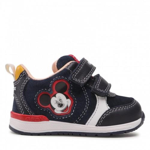 Geox Παιδικό Sneaker Risho με Σκρατς για Αγόρι Navy Μπλε B160RB 02285 C4211