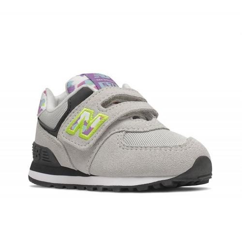 New Balance Παιδικό Sneaker 574 Classics με Σκρατς για Κορίτσι Γκρι IV574WO1