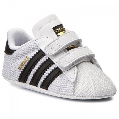 Adidas Βρεφικά Sneakers Αγκαλιάς Λευκά Superstar S79916