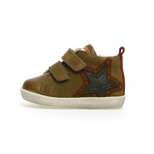 FALCOTTO HENRY VL - Suede shoes with patch and print  2016124011F82
