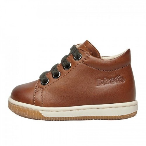 FALCOTTO JAY ZIP - Δερμάτινα παπούτσια με φερμουάρ 2015572120D07 Καφέ