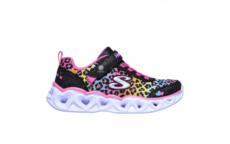 Skechers Παιδικά Sneakers Heart Lights - Love Match 302145L-BKMT ΚΟΡΙΤΣΙΑ