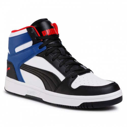 Puma Rebound LayUp Sl 369573-18 White/Puma Black/Limoges/Red